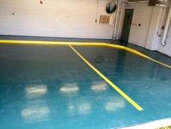 Epoxy floor solid color system