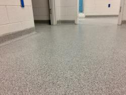 Epoxy floor TerraChip system involving basecove